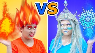 HOT VS COLD CHALLENGE | GIRL ON FIRE VS ICY GIRL