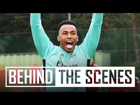 Gabriel's banger!! | Behind the scenes at Arsenal training centre | Inside Training