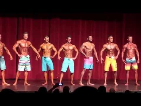 2014 NPC Illinois State Bodybuilding Men's Physique Class C Tall Pre-Judging