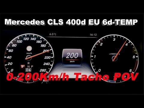 Mercedes CLS 400d 2019 EU 6d-TEMP 0-200Km/h Tacho POV