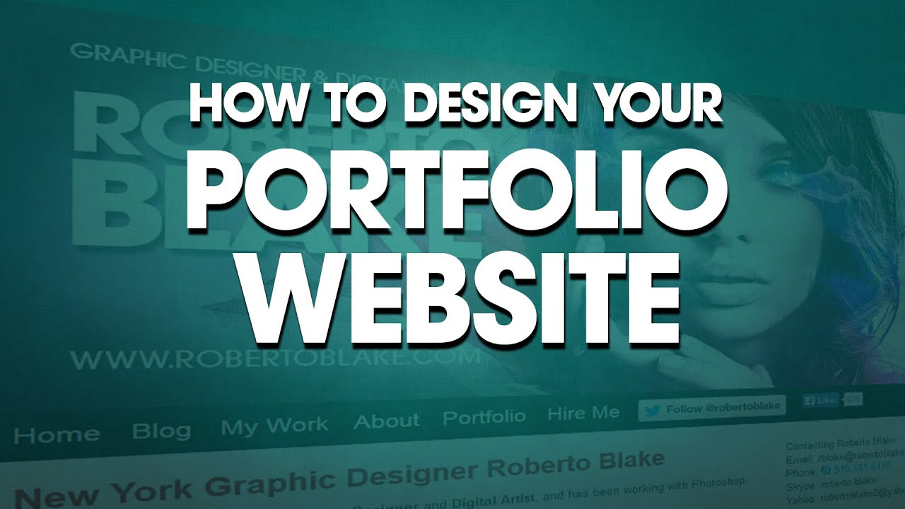 Graphic Design: How to Design Your Portfolio Website - YouTube