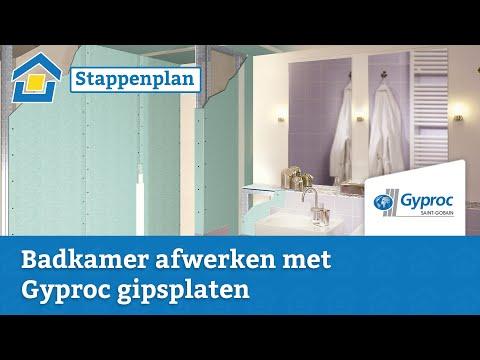 Zeer Waterdichte voorzetwand voor badkamer plaatsen met Gyproc | Klusadvies LJ75