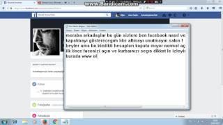 Facebook Kapatma Kesİn %100