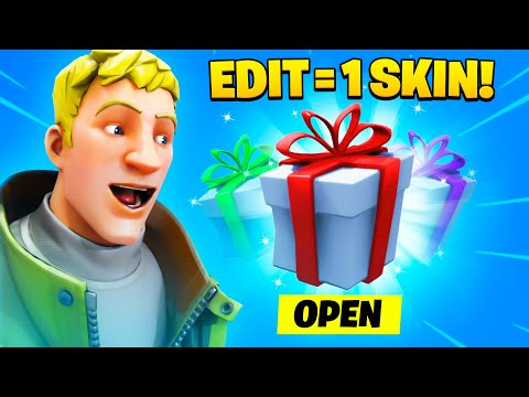 Gifting A DEFAULT A Skin For Every Time He Edits in Fortnite!