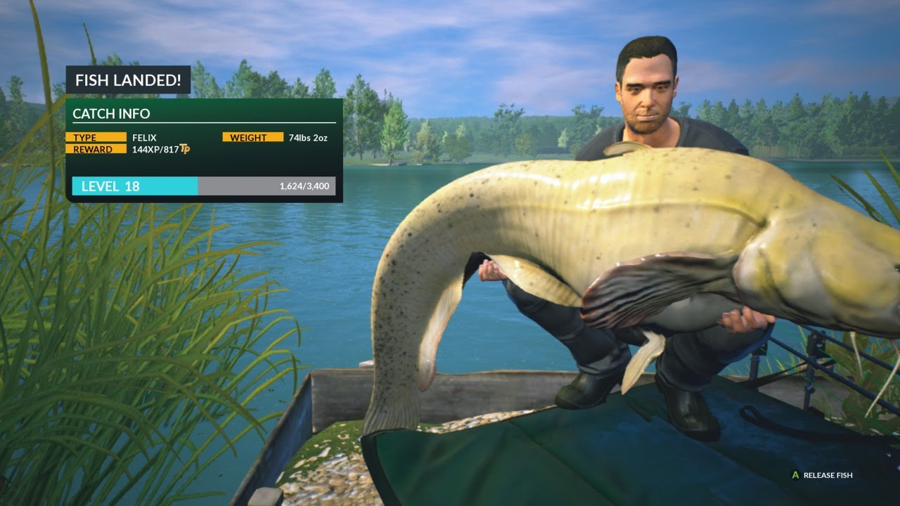 New euro fishing felix 74lbs 2oz catfish youtube for Fishing xbox one