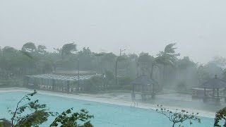 Classic Daytime Hurricane Conditions - 4K Stock Footage Super Typhoon Meranti thumbnail