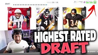 89 DRAFT?! HIGHEST RATED DRAFT - Madden 19 Draft Champions Gameplay