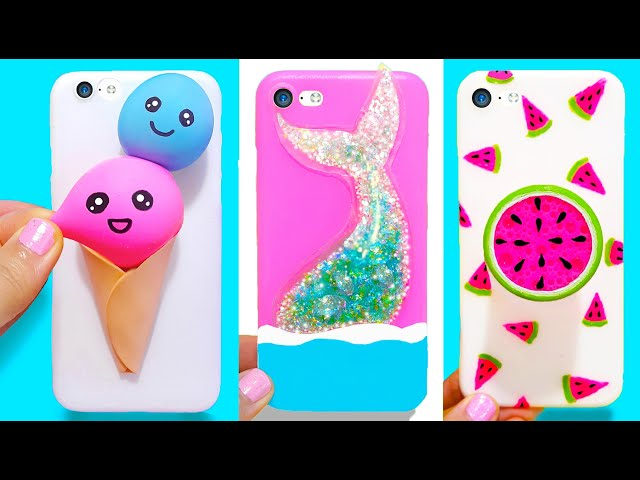 3 DIY STRESS RELIEVER PHONE CASES   Easy & Cute Phone Projects & iPhone Hacks