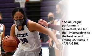All-Region female athlete of the year: Katie Peneueta, Heritage High School
