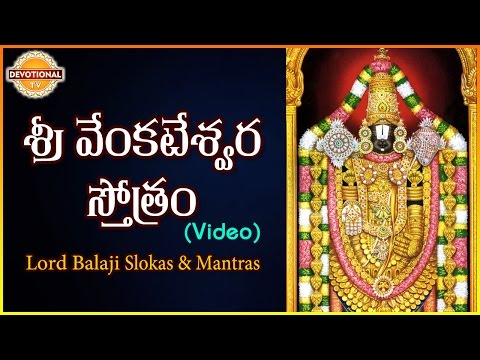 Lord Balaji Slokas and Mantras | Sri Venkateswara Stotram Telugu Slokas | DevotionalTV