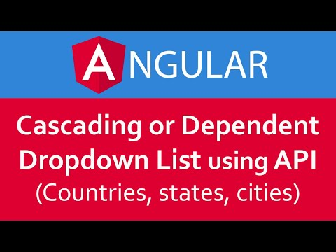 Angular 6/7 Tutorial in Hindi #26 Cascading / Dependent