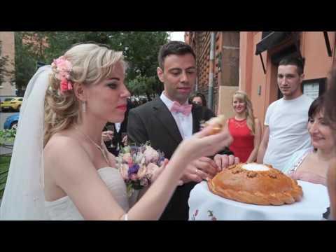 Красивая свадьба в Санкт-Петербурге во Дворце Бракосочетания №1