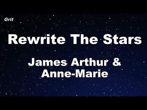 Rewrite The Stars - Anne-Marie & James Arthur Karaoke 【No Guide Melody】 Instrumental