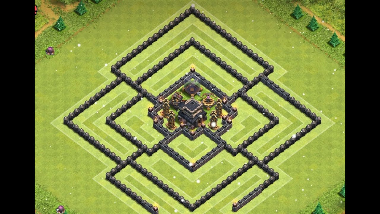 Anti Everything Coc Th9 Farming Base 2