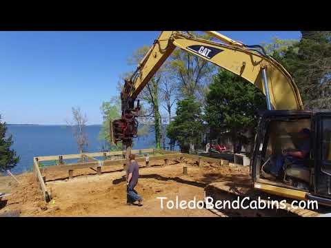 Pile Driving at the Toledo Bend Cabin Lakefront