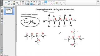 Drawing isomers of organic molecules