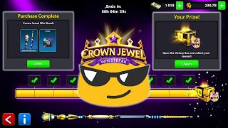 Got a NEW CUE and RING + CROWN JEWEL WinStreak Event in 8 Ball Pool - Miniclip - Gaming With K