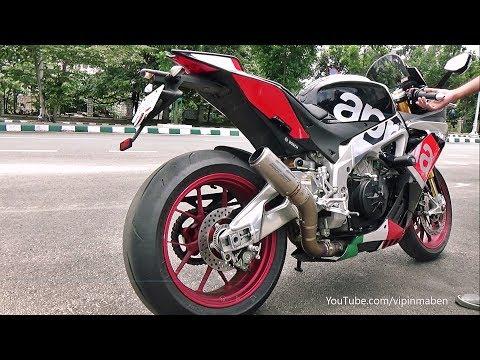 Aprilia RSV4 RF SC Project CR-T Exhaust - Start-up, Rev & Ride