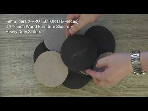 Felt Furniture Sliders X-PROTECTOR For Hardwood Floors 16 PCS - Move Your Furniture Easily & Safely!