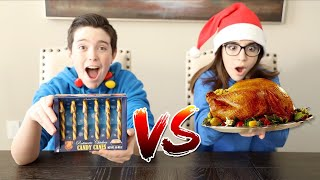 CANDY CANE vs REAL FOOD!! - Christmas Special