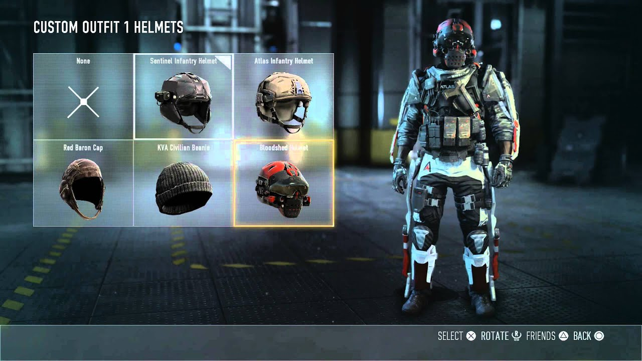 Call of duty advanced warfare multiplayer bloodshed helmet unlocked