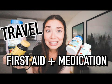 TRAVEL FIRST AID KIT + MEDICATIONS