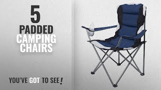 Top 5 Padded Camping Chairs [2018]: Internet's Best Padded Camping Folding Chair | Outdoor | Navy