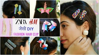 ZARA, H&M जैसी DIY Fashion Hair Clips & Accessories .. | #Anaysa #DIYQueen
