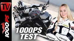 1000PS Test - Triumph Street Triple RS 2017 | Steffi testet die nackte Britin ENGL Subs