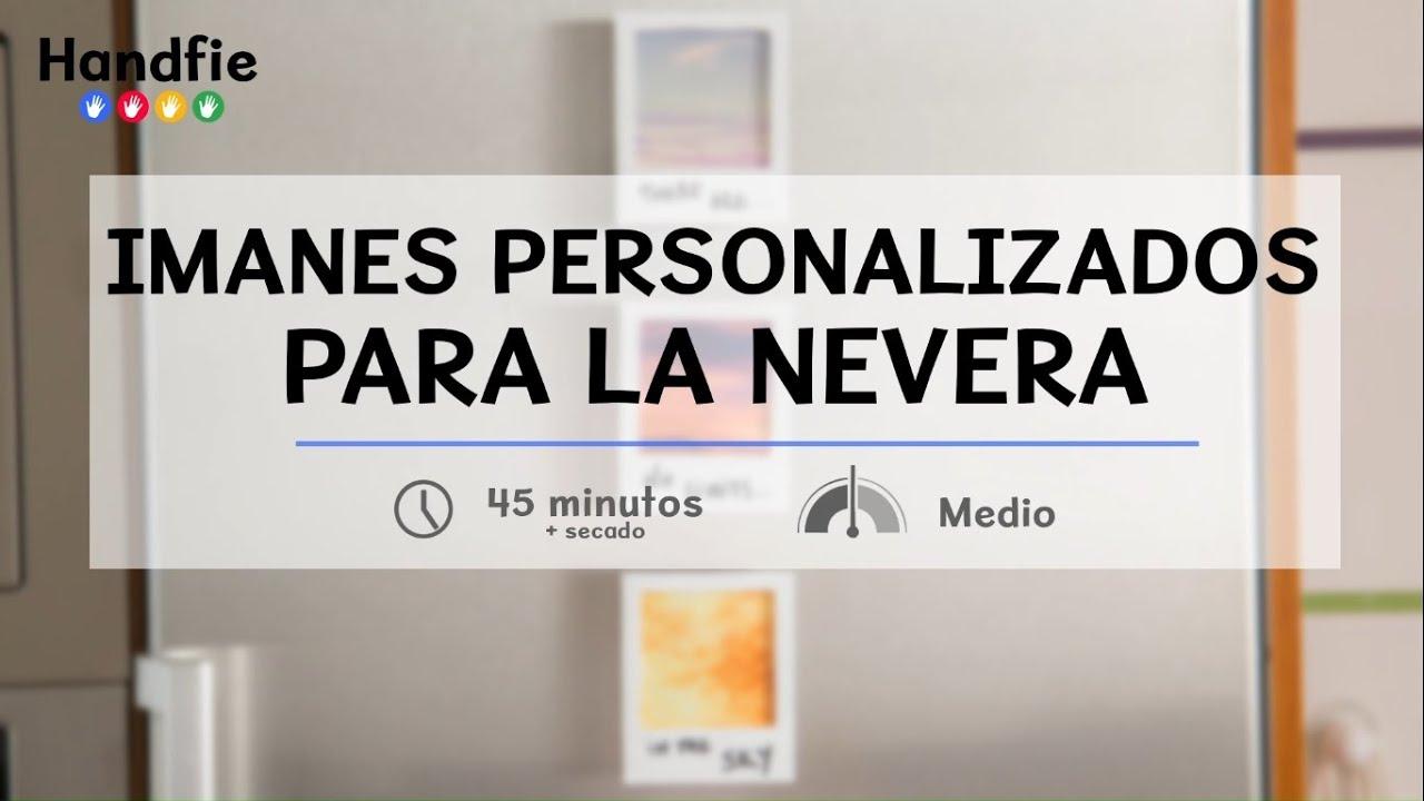 Cómo hacer imanes personalizados para la nevera · Handfie DIY - YouTube