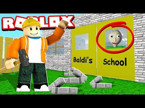 I Built Baldi S School Baldi S Basics Roblox Tycoon Youtube