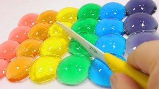 Как сделать цветные прозрачные капли воды из желе