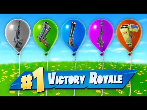 The *RANDOM* Balloon Challenge In Fortnite!