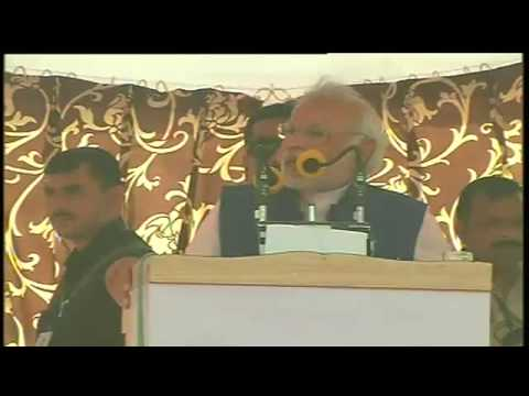 Shri Narendra Modi addresses Bharat Vijay Rally in Laxmangarh (Sikar) , Rajasthan