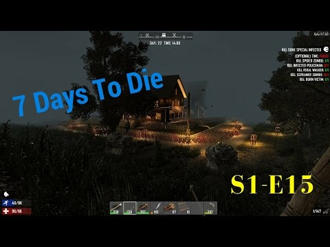 7 Days To Die-S1-E15- How To Lose Wellness Dam Dogs