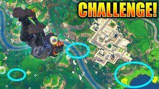 SECRET SKYDIVE Through Rings GAMEMODE in Fortnite! (Fortnite HIDDEN Skydiving Challenge Gameplay)