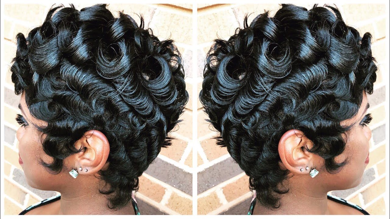 PIN CURLS ON PIXIE CUT | BETTY BOOP STYLE by