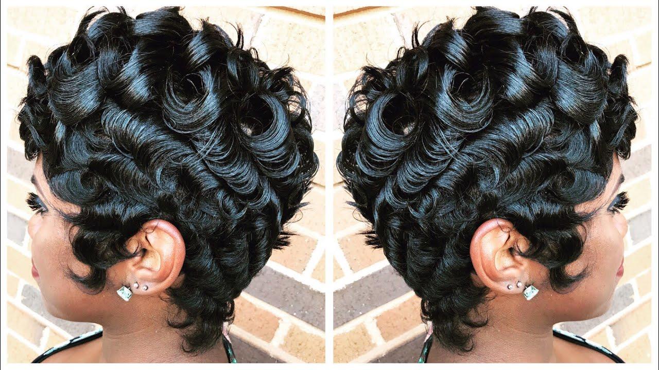 pin curls pixie cut betty