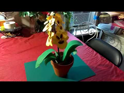 How to make Miltoniopsis orchids flower made  with paper.