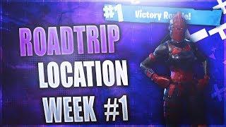 Secret Week 1 Battlestar location! (Roadtrip #1) Fortnite Week 1 Challenges Season 5