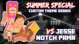 Uncovered Jesse(M) vs Notch PAMA, Minecraft Story Mode Episode 7 (Swimsuit Series)