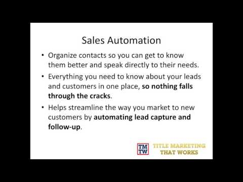 How to Automate Your Title Company Marketing
