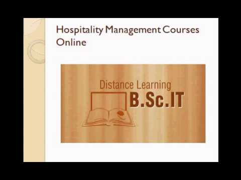 distance learning hospitality degree