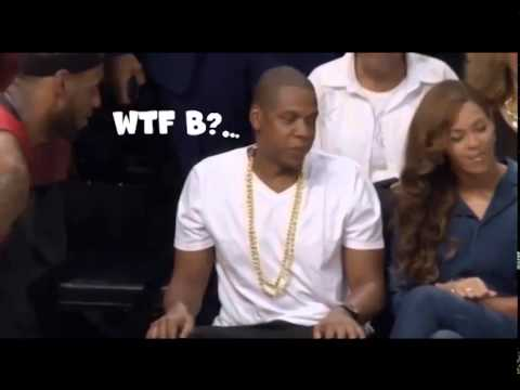 Beyonce Caught Looking At Lebron James By Jay-Z