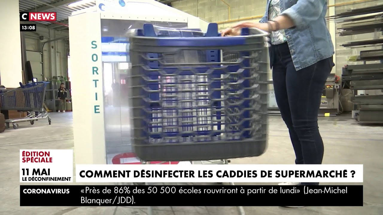 Une laverie automatique pour désinfecter les caddies de supermarchés