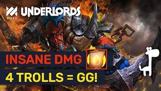 MASSIVE DAMAGE! Contract + 4 Trolls Knights Build! | Dota Underlords