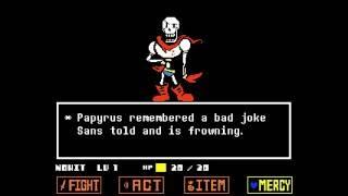 UNDERTALE No Hit Papyrus (Colored Sprite Mod)