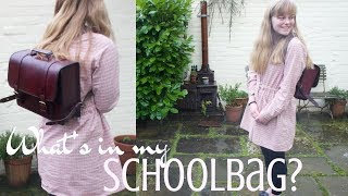 What's in my Schoolbag? || Old Fashioned Edition / Organised