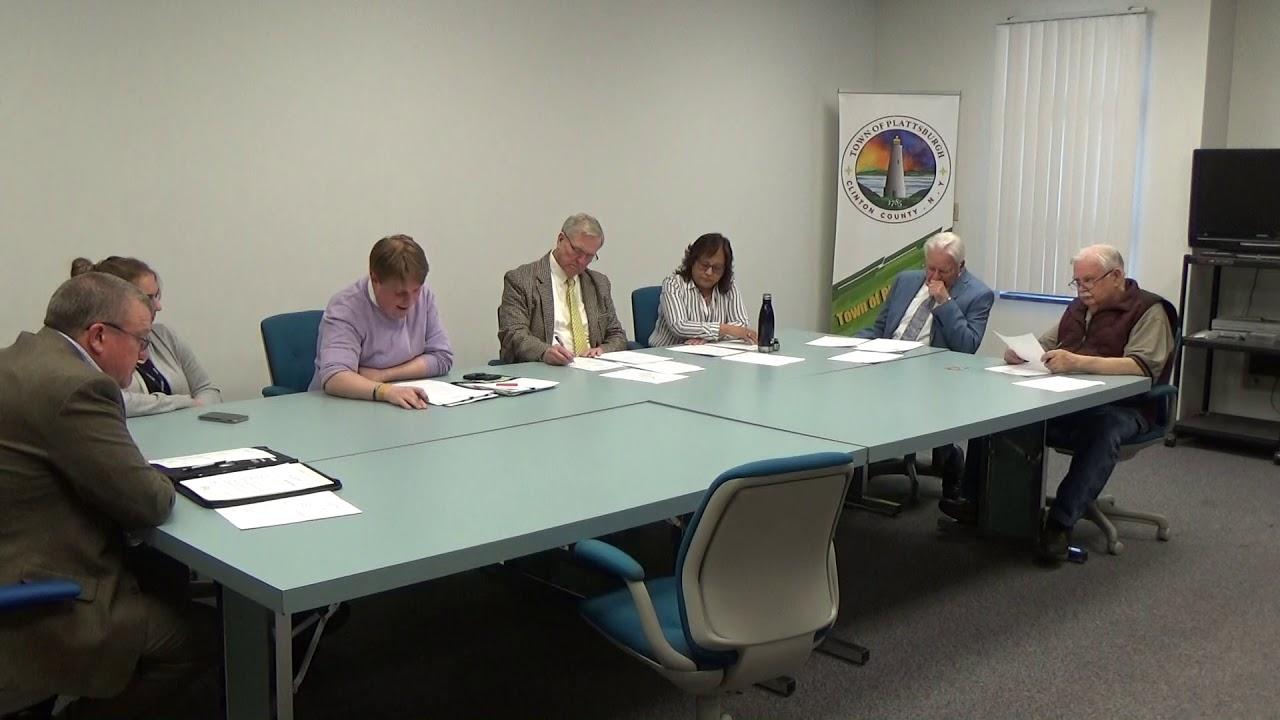Town of Plattsburgh Meeting  4-25-19
