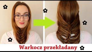 SZYBKA FRYZURA: Luźny warkocz przekładany dla długich włosów